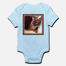 Champagne Burmese Box Cat Infant Bodysuit