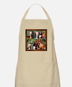 Cat Meets Kachina Triptych Apron