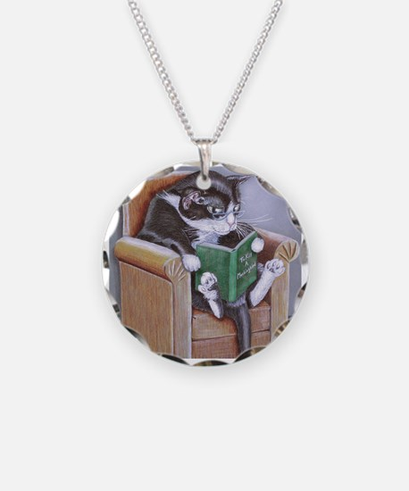 Reading Cat Necklace