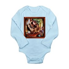 Tonkinese on Mantle Long Sleeve Infant Bodysuit