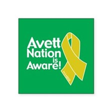 "Avett Nation is Aware Square Sticker 3"" x 3"""