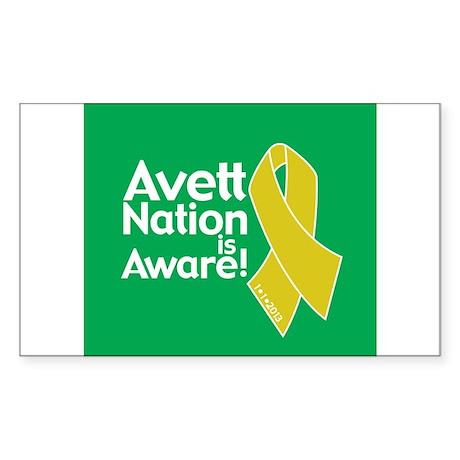 Avett Nation is Aware Sticker (Rectangle)