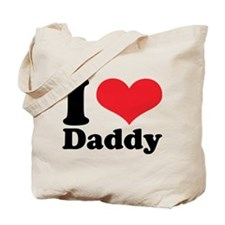 I Heart Daddy Tote Bag