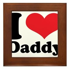 I Heart Daddy Framed Tile