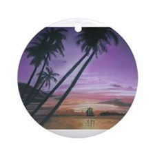 Sailing Through Paradise Ornament (Round)