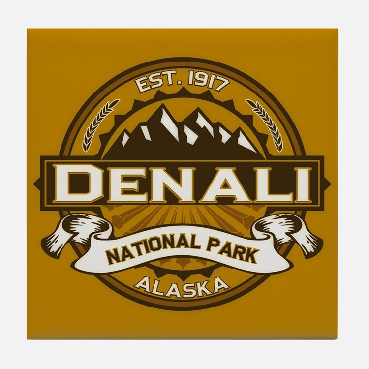 Denali Goldenrod Tile Coaster