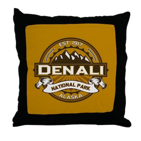 Goldenrod Throw Pillow : Denali Goldenrod Throw Pillow by highaltitudes2