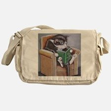 Reading Cat Messenger Bag