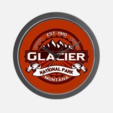 Glacier Crimson Wall Clock