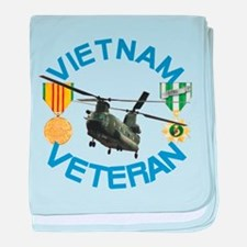Chinook Vietnam Veteran baby blanket