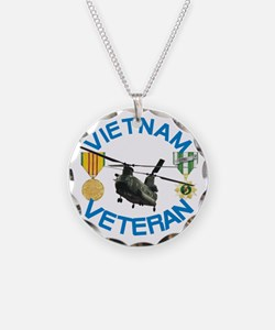 Chinook Vietnam Veteran Necklace