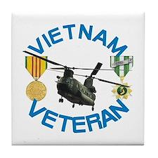 Chinook Vietnam Veteran Tile Coaster