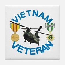 Chinook Vietnam Veteran Tile Coaster