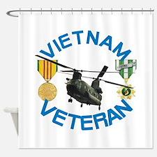 Chinook Vietnam Veteran Shower Curtain