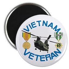"""Chinook Vietnam Veteran 2.25"""" Magnet (100 pac"""