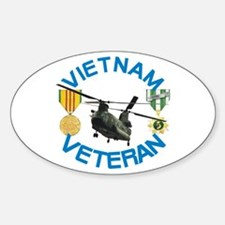 Chinook Vietnam Veteran Sticker (Oval)