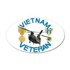 Chinook Vietnam Veteran 35x21 Oval Wall Decal