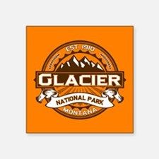 """Glacier Pumpkin Square Sticker 3"""" x 3"""""""