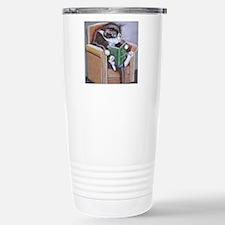 Reading Cat Travel Mug