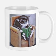 Reading Cat Mug