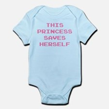 This Princess Saves Herself Infant Bodysuit