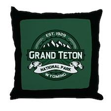 Grand Teton Forest Throw Pillow