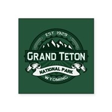 "Grand Teton Forest Square Sticker 3"" x 3"""