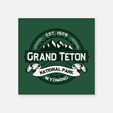 "Grand Teton Forest Square Sticker 3"" x 3"""