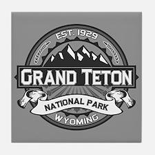 Grand Teton Ansel Adams Tile Coaster