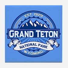 Grand Teton Cobalt Tile Coaster
