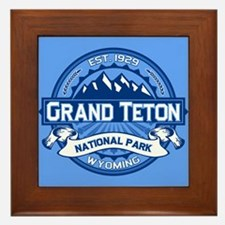 Grand Teton Cobalt Framed Tile