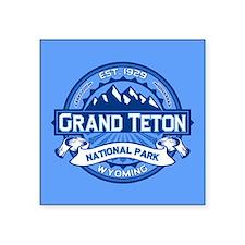 "Grand Teton Cobalt Square Sticker 3"" x 3"""