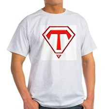 """Super Tina"" Ash Grey T-Shirt"