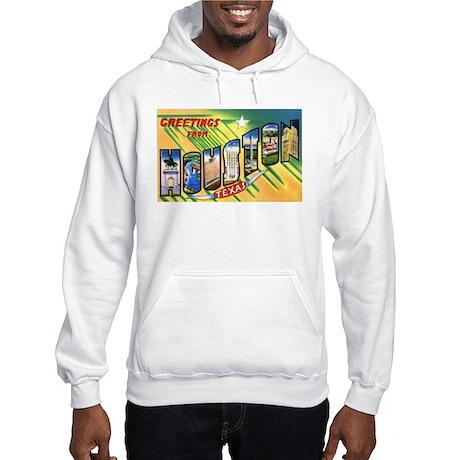 Houston Texas Greetings Hooded Sweatshirt