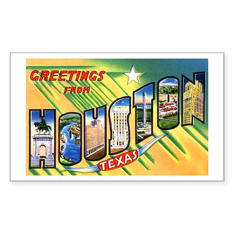 Houston Texas Greetings Rectangle Sticker