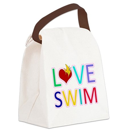 LOVE SWIM Canvas Lunch Bag