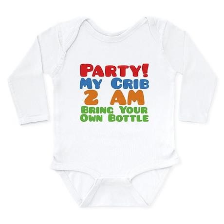 Party My Crib 2 AM BYOB Long Sleeve Infant Bodysui