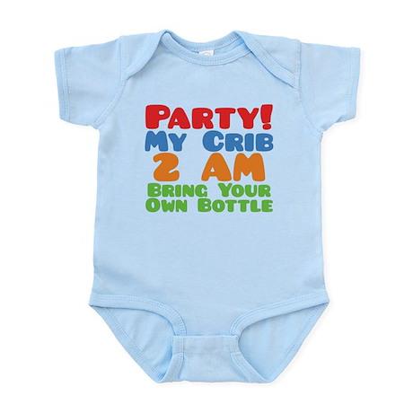 Party My Crib 2 AM BYOB Infant Bodysuit