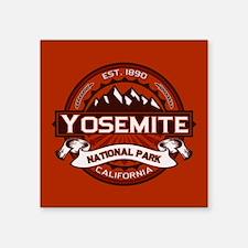 """Yosemite Crimson Square Sticker 3"""" x 3"""""""