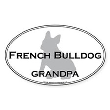 French Bulldog GRANDPA Oval Decal