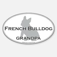French Bulldog GRANDPA Oval Decal
