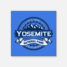"Yosemite Blue Square Sticker 3"" x 3"""