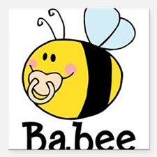 """Babee Bee Square Car Magnet 3"""" x 3"""""""