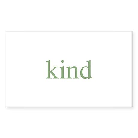 kind Rectangle Sticker