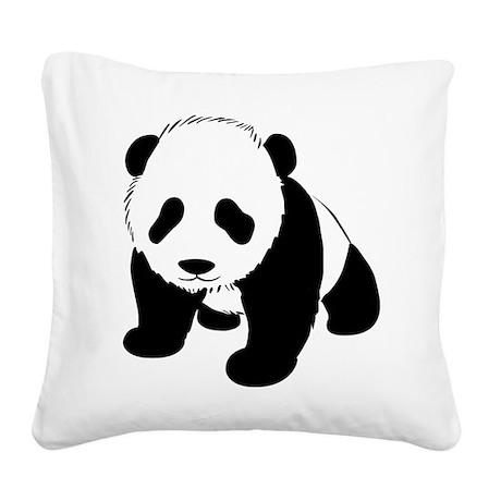Panda Bear Square Canvas Pillow