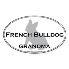 French Bulldog GRANDMA Oval Decal