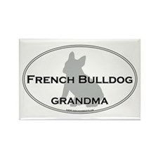 French Bulldog GRANDMA Rectangle Magnet