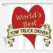 Tow truck driver Shower Curtain