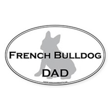 French Bulldog DAD Oval Decal