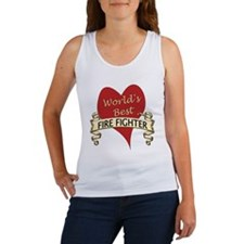 Unique World%27s greatest fire fighter Women's Tank Top